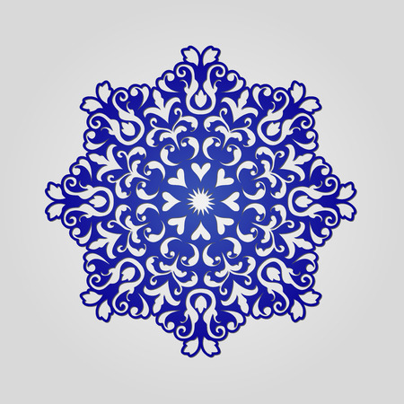 die cut: Die cut paper card with cutout mandala ornament. May be used for laser cutting or cutting machines. Laser cut vector mandala pattern. Stencil mandala.