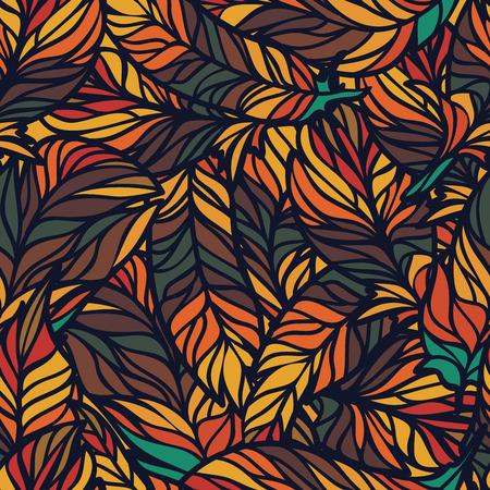 psychoanalysis: Seamless abstract hand-drawn waves pattern, wavy background.