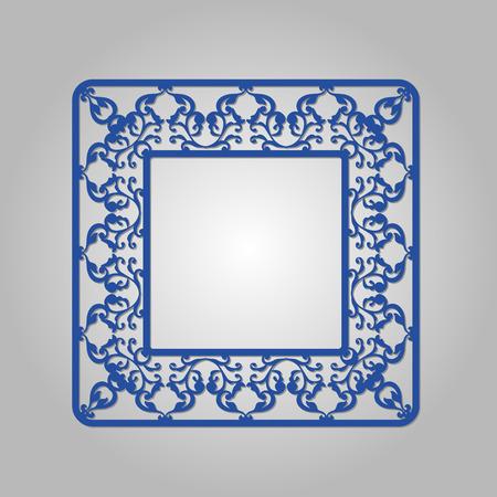lasercutting: Abstract circle frame with swirls