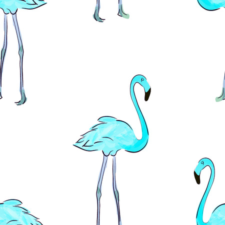 Seamless pattern with pastel pink flamingos. Decorative figure. Suitable for printing on fabric Illustration