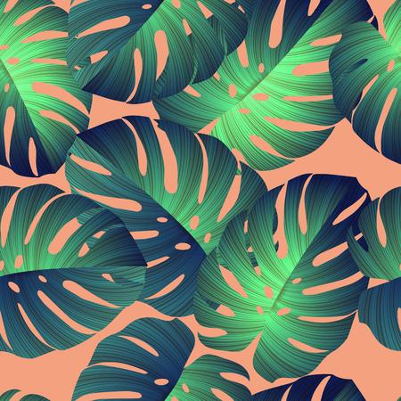 motif tropical. Jungle feuilles de palmier
