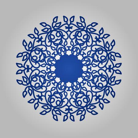 Die cut paper card with cutout mandala ornament. May be used for laser cutting or cutting machines. Laser cut vector mandala pattern. Stencil mandala.