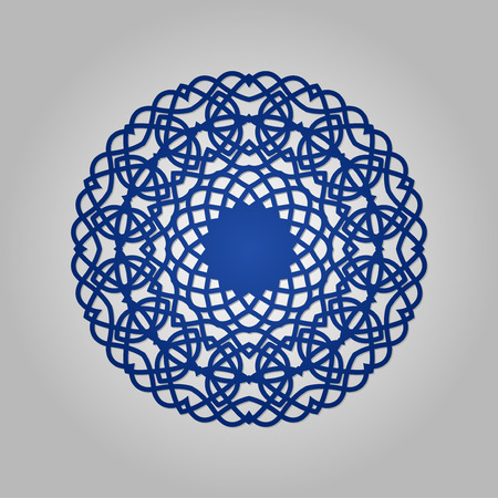 Die cut paper card with cutout mandala ornament. May be used for laser cutting or cutting machines. Laser cut vector mandala pattern. Stencil mandala.