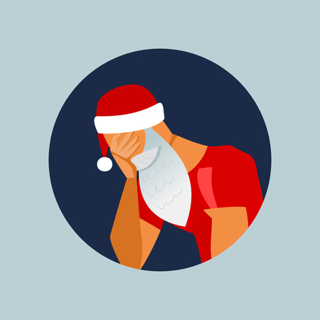 Vector Santa Claus facepalm illustration