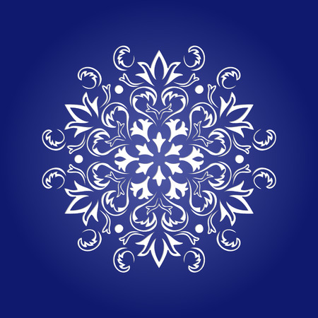 Die cut paper card with cutout mandala ornament. May be used for laser cutting or cutting machines. Laser cut mandala pattern. Stencil mandala. Illustration