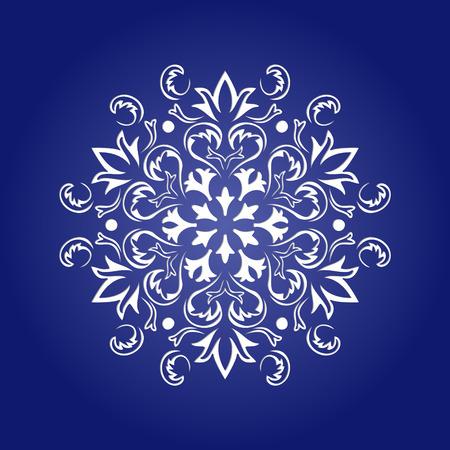 kirigami: Die cut paper card with cutout mandala ornament. May be used for laser cutting or cutting machines. Laser cut mandala pattern. Stencil mandala. Illustration
