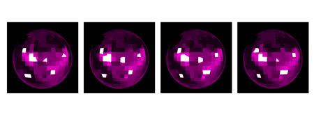dancefloor: Animation of Disco Mirror Ball
