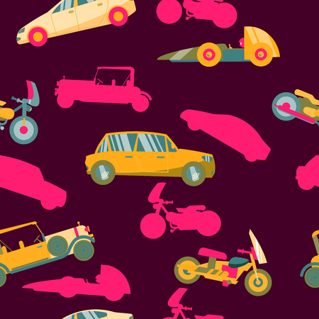 Seamless pattern with cars. 向量圖像