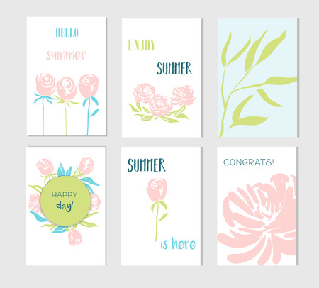 Set of creative social media sale headers or banners with discount offe 向量圖像