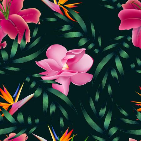 熱帯の花、ジャングルを葉します。 写真素材 - 75567410