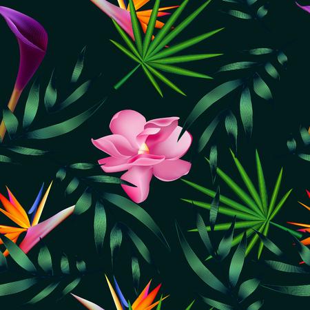 熱帯の花、ジャングルを葉します。 写真素材 - 75569011
