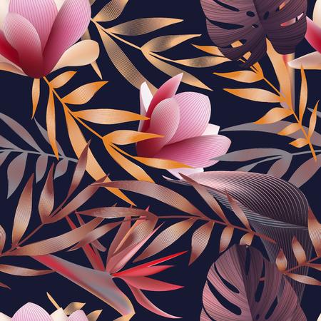 熱帯の花、ジャングルを葉します。 写真素材 - 75569013