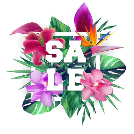 Ontwerp banner met verkoop logo.