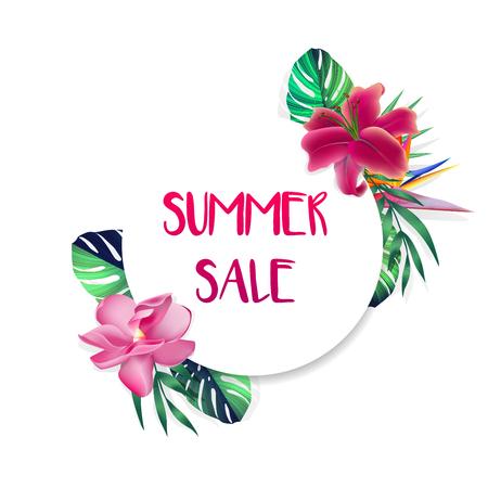 Ontwerp banner met Sammer Sale logo.