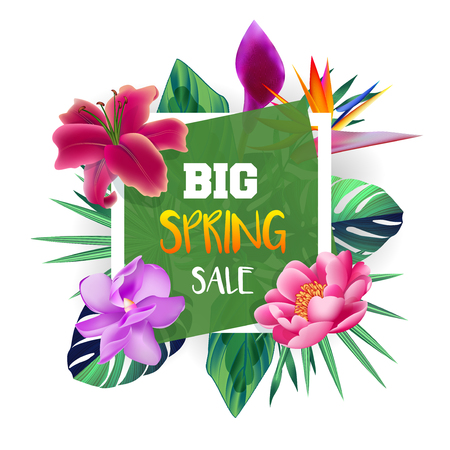 Design banner with Spring Sale.
