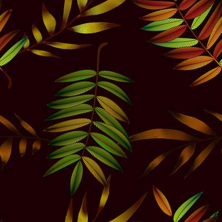 熱帯の花、ジャングルの葉、極楽鳥花。 写真素材 - 76690695