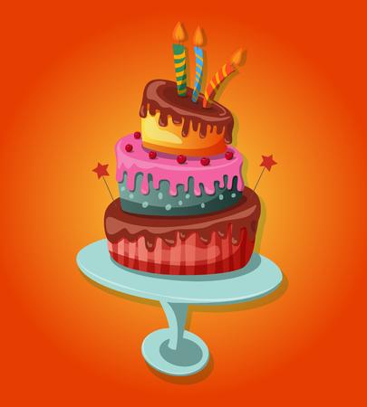 Sweet baked isolated cake.