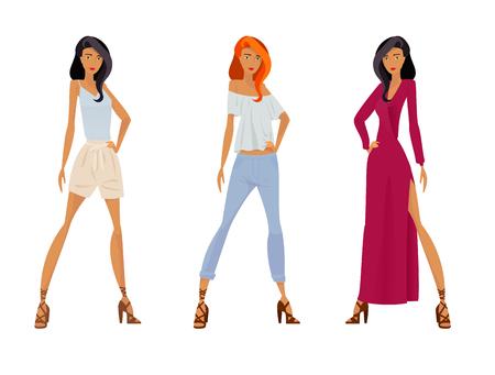 Set of women.  イラスト・ベクター素材