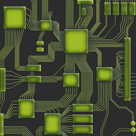 Microcircuit Stock Photo