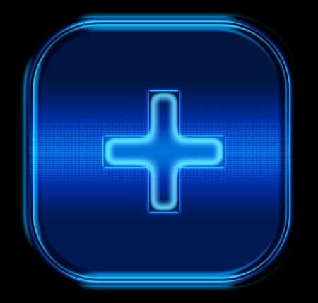 The button plus blue photo