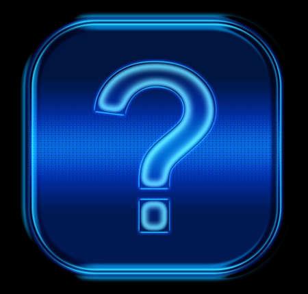 The button question symbol blue photo