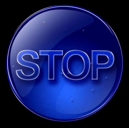button stop blue photo