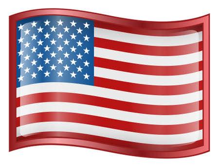 verenigde staten vlag: Verenigde Staten Flag Icon (Met Clipping Path)