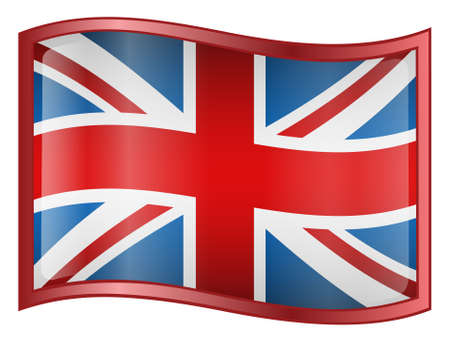 United Kingdom Flag Icon (With Clipping Path) Stock Photo - 768094