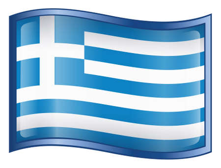 Greece Flag Icon (With Clipping Path) Stock Photo - 768101