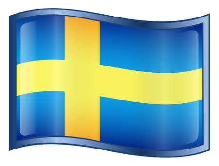 bandera de suecia: Suecia Bandera icono (con recorte ruta)