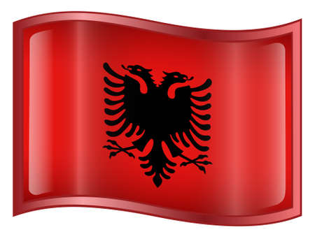 Albania Flag Icon (With Clipping Path) photo