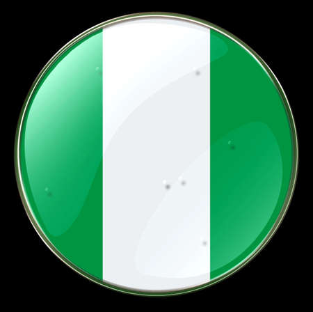 Nigeria Flag Button. (With Clipping Path) Stock Photo - 958574