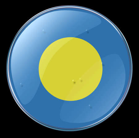 Palau Flag Button. (With Clipping Path) Stock Photo - 957972