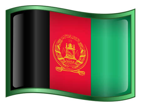 Afghanistan Flag Icon. (With Clipping Path) photo