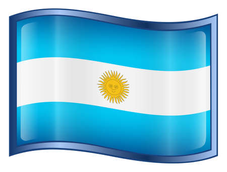 Argentina Flag Button. (With Clipping Path) photo