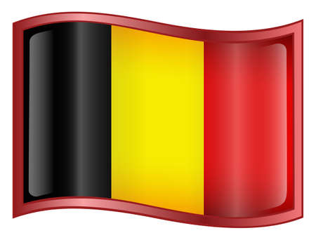 Belgium Flag Icon. (With Clipping Path) Stock Photo - 960246