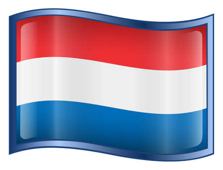 Netherlands Flag icon. (With Clipping Path) photo