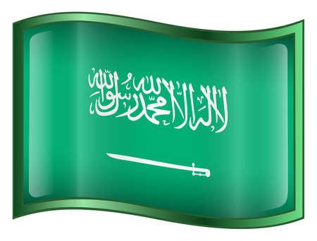 Saudi Arabia Flag Icon. (With Clipping Path) Stock Photo - 958649