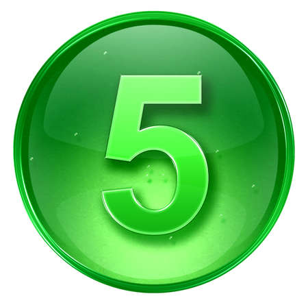 number five icon. With Clipping Path Stock Photo - 962339