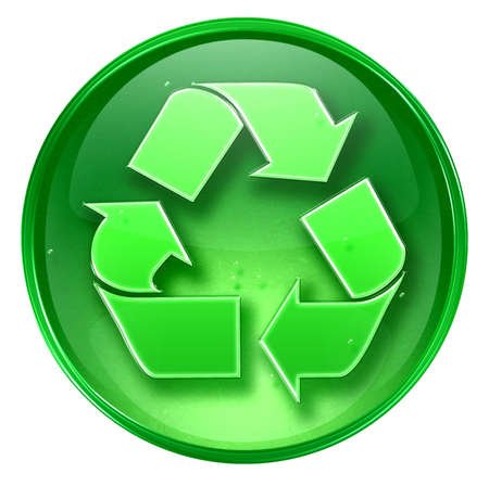 Recycling symbol icon. (With Clipping Path) photo