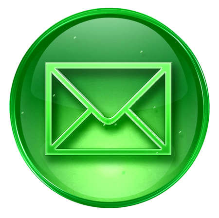 sender: postal envelope icon. With Clipping Path