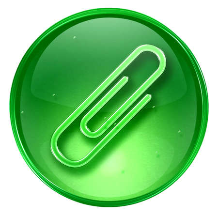 Paper clip icon. (With Clipping Path) photo
