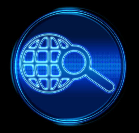 search and magnifier icon. (With Clipping Path) Stock Photo