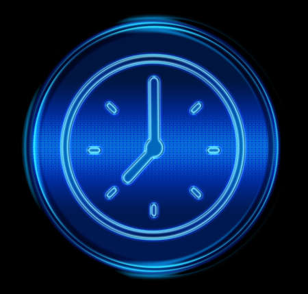 Clock icon. (With Clipping Path) photo