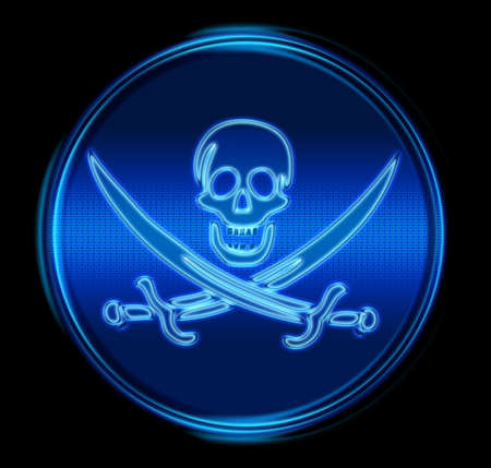 warez: Pirate icon. (With Clipping Path) Stock Photo