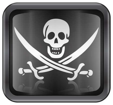 Piraten-Symbol  Standard-Bild