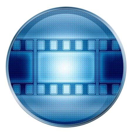 Film-Symbol. (Mit Clipping-Pfad)  Standard-Bild