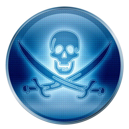 Pirate icon. (With Clipping Path) Stock Photo