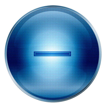 The button Hyphen blue icon