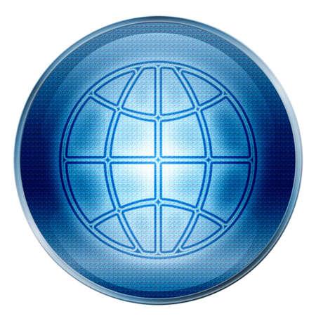 Button Welt  Standard-Bild